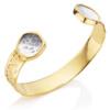 Gold Vermeil Atlantis Cuff - Dendritic Agate - Monica Vinader