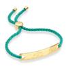 Gold Verneil Havana Friendship Bracelet - Emerald Green