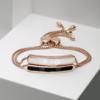 Rose Gold Vermeil Baja Bracelet - White Chalcedony Still Life