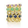 Gold Vermeil Siren Eternity Ring Large - Chrysoprase - Monica Vinader