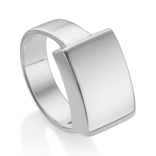 Linear Large Plain Ring - Monica Vinader