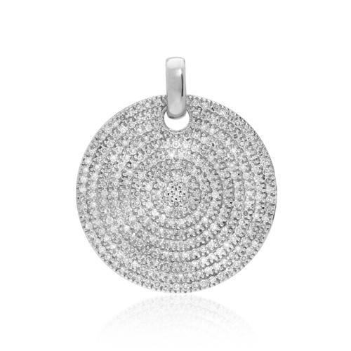 Medium Ava Diamond Pendant - Diamond - Monica Vinader