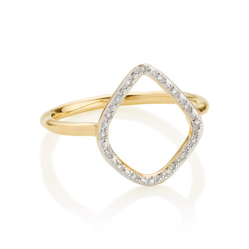 Gold Vermeil Riva Diamond Hoop Ring - Diamond - Monica Vinader