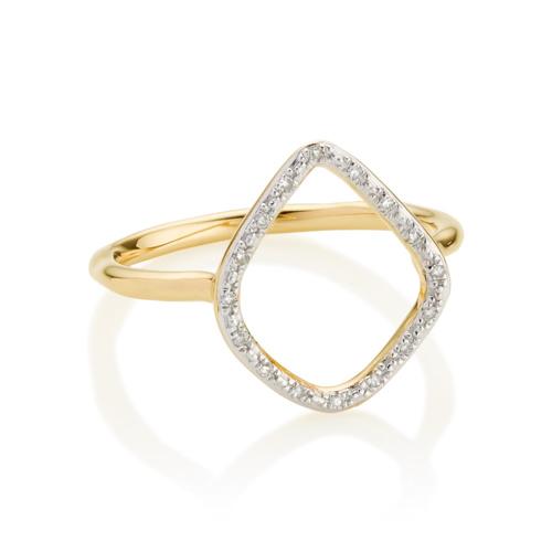 Gold Vermeil Riva Diamond Hoop Ring - Diamond - Monica Vinader