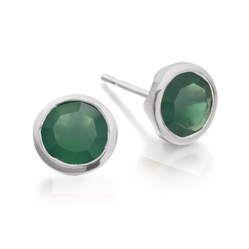 Isla Stud Earrings - Green Onyx - Monica Vinader