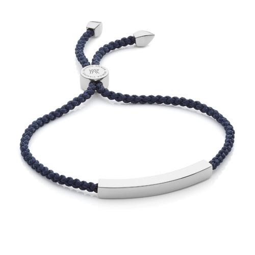 Linear Friendship Bracelet - Navy Blue - Monica Vinader