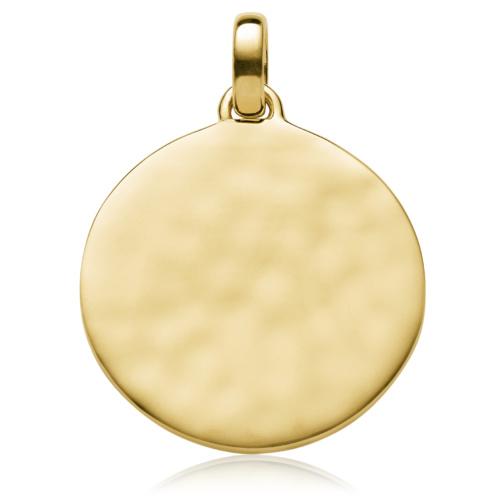 Gold Vermeil Siren Medium Round Pendant - Monica Vinader