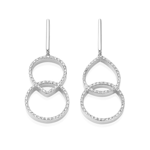 Naida Kiss Open Cocktail Earrings - Diamond