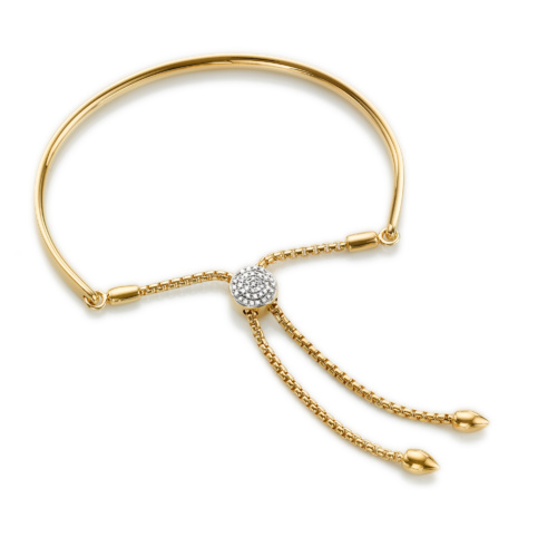 Gold Vermeil Fiji Diamond Toggle Petite Bracelet - Diamond - Monica Vinader
