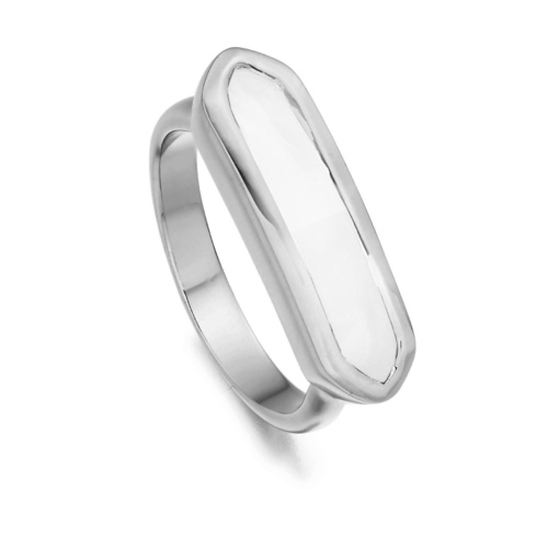 Baja Ring - White Chalcedony