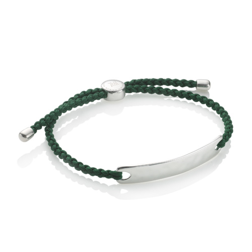 Havana Mens Friendship Bracelet - Forest Green
