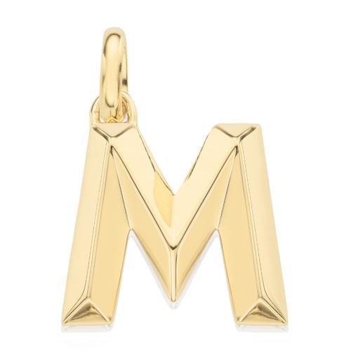 Gold Vermeil Alphabet Pendant M