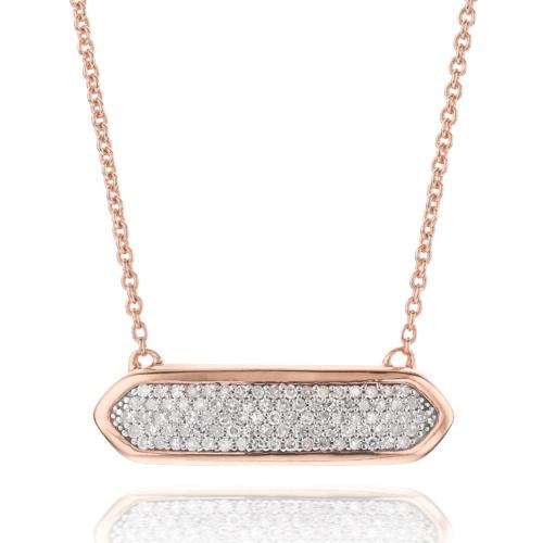 Rose Gold Vermeil Baja Mini Necklace - Diamond - Monica Vinader