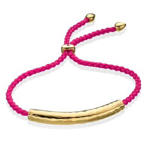 Gold Esencia Friendship Bracelet Cerise Pink