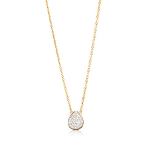 Gold Vermeil Alma Necklace - Diamond - Monica Vinader