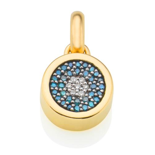 Gold Vermeil Evil Eye Pendant - Diamond - Monica Vinader