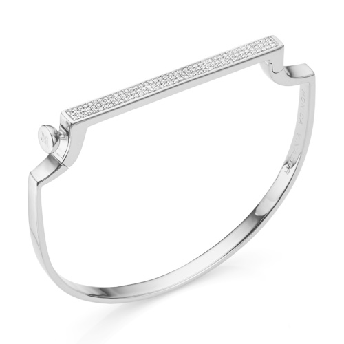 Signature Petite Thin Bangle - Diamond - Monica Vinader